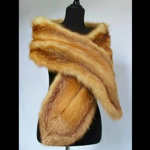 Luxury Vintage Red Fox Fur Wrap